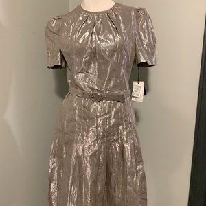 Gold Metallic Ana Sui Dress